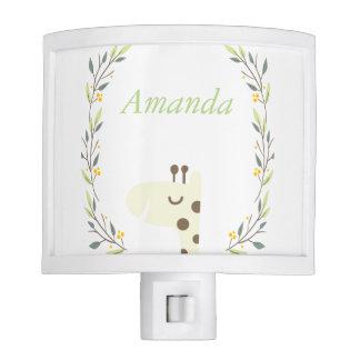 Personalized Woodland Giraffe Night Light