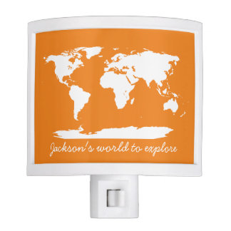 Personalized World Map Nite Lites