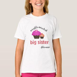 Personalized World's Sweetest Big Sister T-Shirt