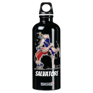 Personalized Wrestlers At Their Best Water Bottle