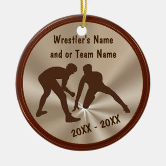Personalized Wrestling Ornaments and Team Gifts