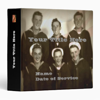 Personalized WWII Navy Veteran Photo Album Vinyl Binders