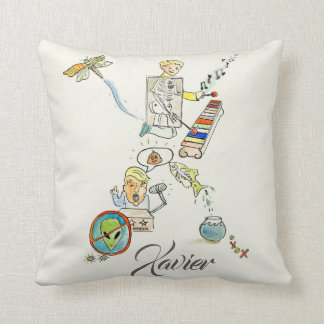 Personalized X is for _______ pillow