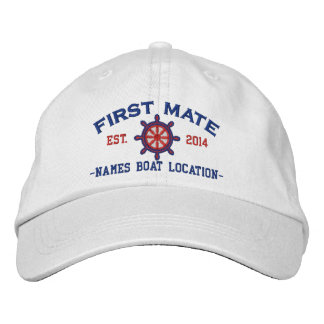 Personalized YEAR and Names First Mate Wheel Baseball Cap