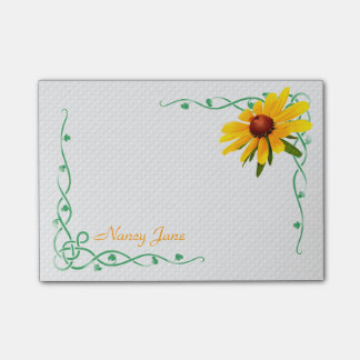 Personalized - Yellow Black-Eyed Susan Photo Post-it Notes