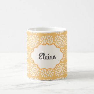 Personalized Yellow Floral Coffee Mug