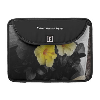 Personalized Yellow Hibiscus selective color Sleeve For MacBooks