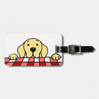 Personalized Yellow Lab watching you Kitchen Luggage Tag