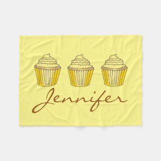 Personalized Yellow Lemon Cake Cupcake Blanket