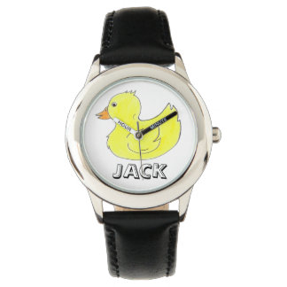 Personalized Yellow Rubber Ducky Duck Duckie Watch