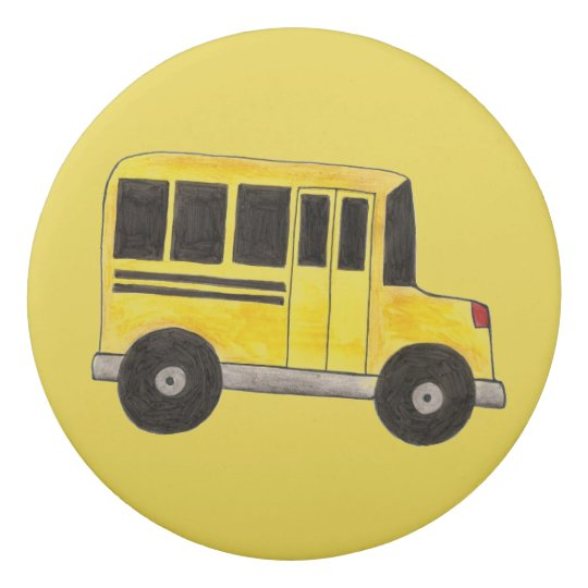 Personalized Yellow School Bus Driver Teacher Gift Eraser