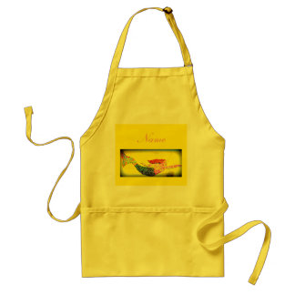 personalized yellow underwater mosaic mermaid standard apron