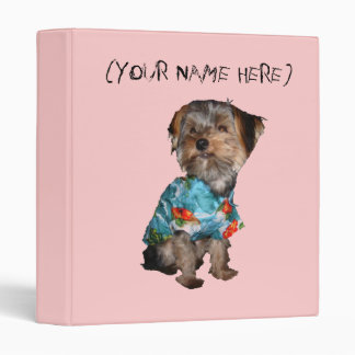Personalized Yorkie Binder