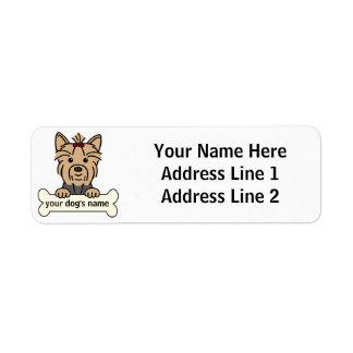 Personalized Yorkie Return Address Label