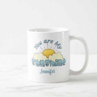 Personalized You Are My Sunshine Coffee Mug