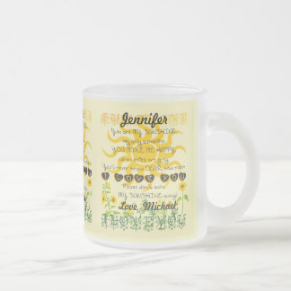 Personalized You Are My Sunshine Frosted Glass Coffee Mug
