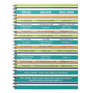 Personalized YOU SAY / GOD SAYS Bible Verses Notebooks