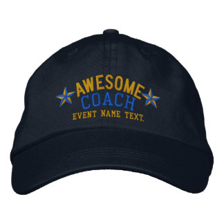 Personalized Your Name Awesome Coach Embroidery Embroidered Hats