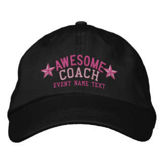 Personalized Your Name Awesome Coach Embroidery Embroidered Baseball Cap