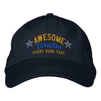 Personalized Your Name Awesome Director Embroidery Embroidered Hats