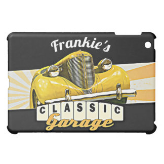 Personalized | Your Name | Classic Car Garage iPad Mini Cases