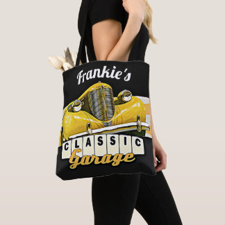 Personalized | Your Name | Classic Car Garage Tote Bag