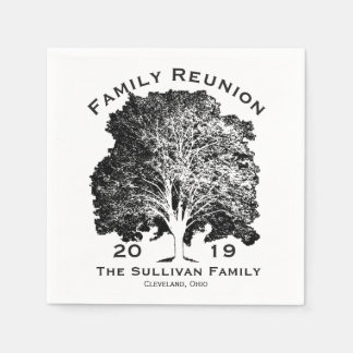 Personalized Your Name Family Reunion Oak Tree Disposable Napkins