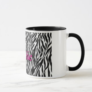 Personalized Zebra Print Coffee Mug For Her