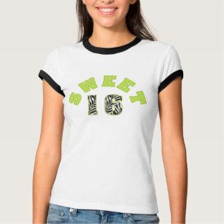 Personalized Zebra Print Sweet 16 Tshirt