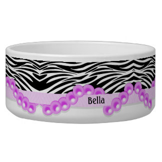 Personalized Zebra Stripes and Pink Pearls