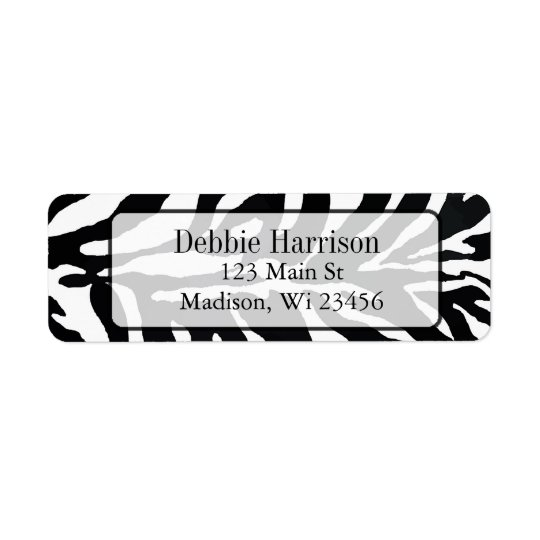 Personalized Zebra Stripes Return Address Labels