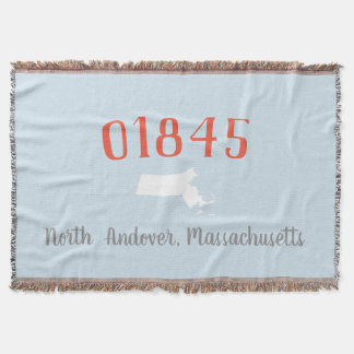 Personalized Zip/Town Massachusetts Home Blanket