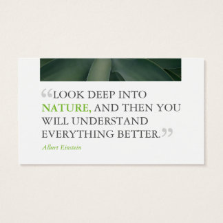 Personallized Modern Nature Business Card