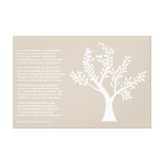 PersonalTrees - Warm Gray -  Poet Tree Canvas Print
