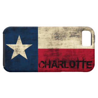 Personalzied Vintage Grunge Flag of Texas Case For The iPhone 5