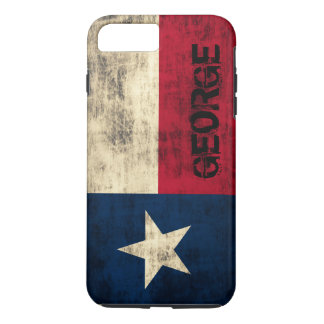 Personalzied Vintage Grunge Flag of Texas iPhone 8 Plus/7 Plus Case