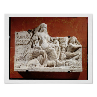 Personification of the earth mother allegorical r print