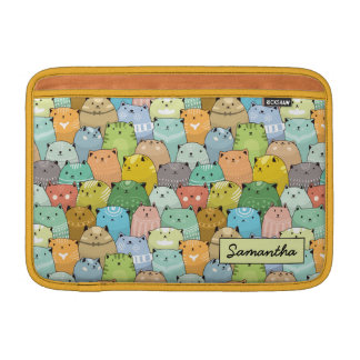 Personilized Super Cute Cat MacBook Sleeve