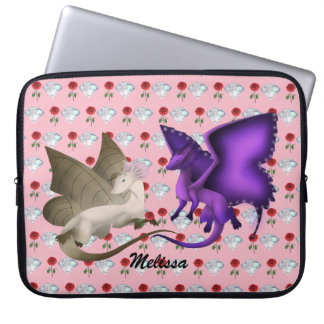 Personlized BFF Butterfly Dragons Laptop Sleeve