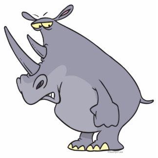 personnage de dessin animé idiot mignon de rhinocé découpages en acrylique