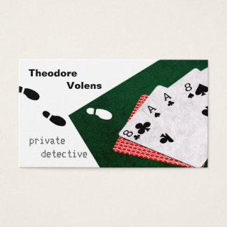 Personnalisable drôle de détective privé cartes de visite