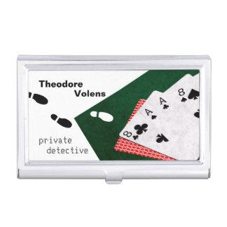 Personnalisable drôle de détective privé étui pour cartes de visite