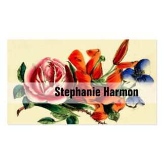 Personnalisé créez votre propre cru floral cartes de visite professionnelles