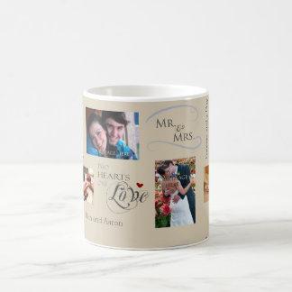 personnalis pousant le collage de photo avec mug blanc - Calendrier Noce De Mariage