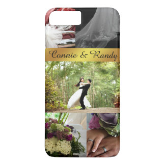 Personnalisé épousant le coque iphone de collage coque iPhone 7 plus