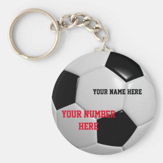 Personnaliser de porte - clé de ballon de football porte-clé rond