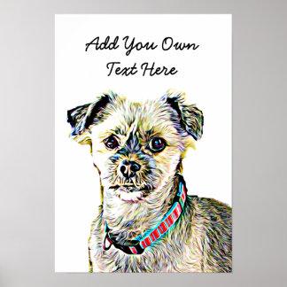 Personnalisez cette affiche mignonne de chien avec