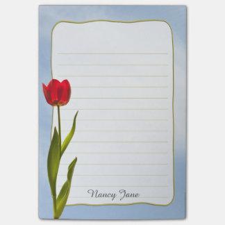 Personnalisez : Ciel bleu de tulipe rouge de Note Post-it