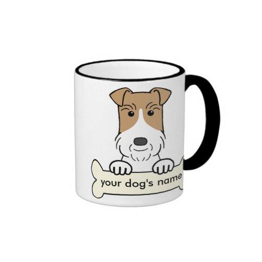 Personnalisez Fox Terrier de fil Tasse