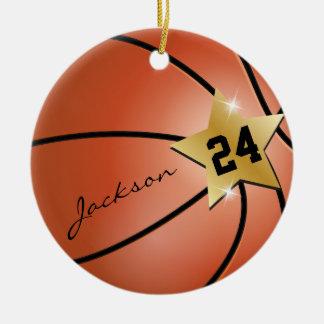 Personnalisez le basket-ball superbe d'étoile décoration pour sapin de noël